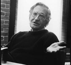 Noam Chomsky mynd: John Soares