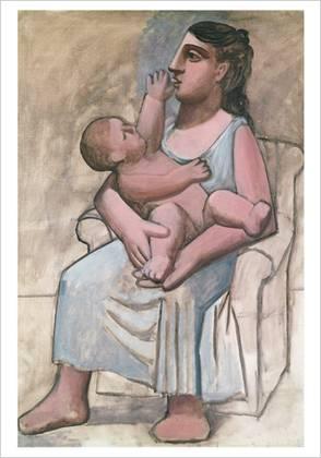 Móðir og barn eftir Pablo Picasso
