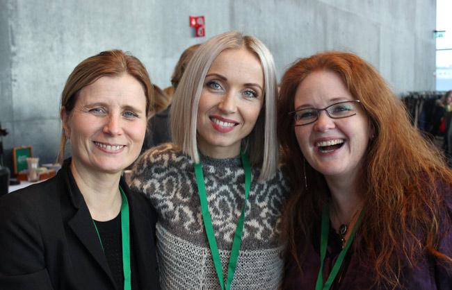 Irma Erlingsdóttir forstöðumaður RIKK, Þórdís Elva Þorvaldsdóttir og Brynhildur Björnsdóttir