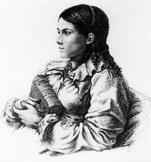 Bettina Von Arnim eftir Ludwig Emil Grimm.