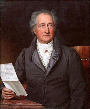 Goethe. Málverk eftir Karl Joseph Stieler, 1828.