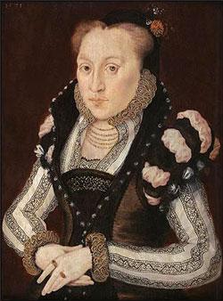Mynd af Lady Mary Grey, 1571, eftir Hans Eworth.