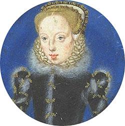 Mynd af Lady Katherine Grey, sirka 1555-1560, málað af Levina Teerlinc.