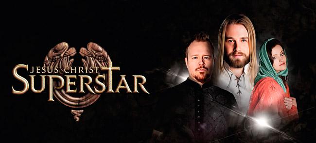 Kynningarmynd af sýningunni Jesus Christ Superstar í Hörpunni. Eyþór Ingi - Jesús, Þór Breiðfjörð - Júdas, Ragga Gröndal - María Magdalena.