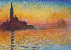 Monet, Sunset in Venice