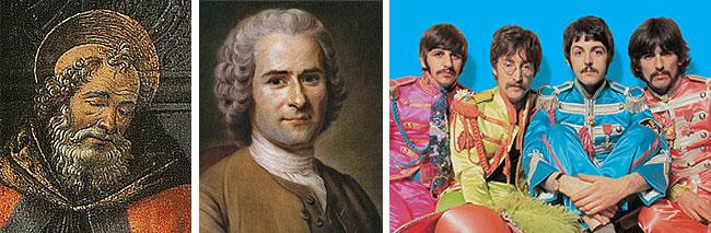 Játningar Ágústínusar og Rousseau eru lykiltextar í þróun bókmenntaformsins sem síðar var kennt við sjálfsævisöguna. Bítlana þarf ekki að kynna.