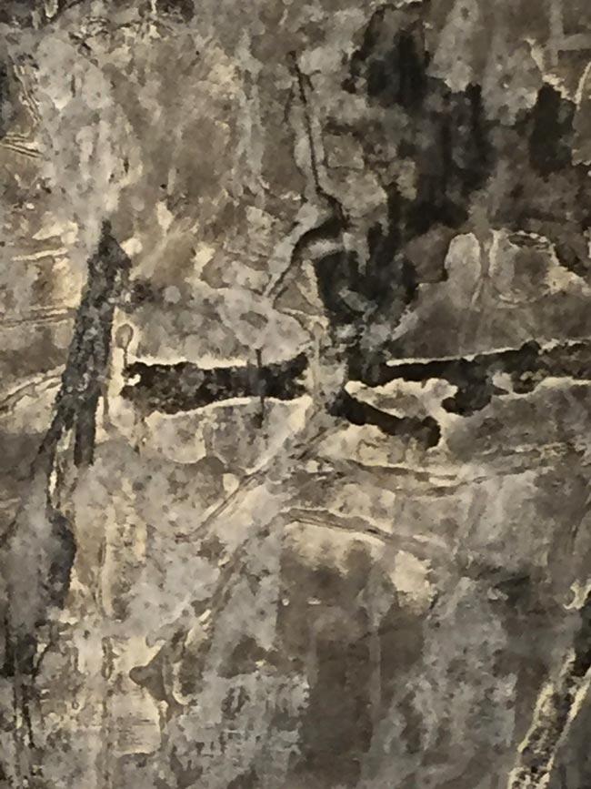 Elva Hreiðarsdóttir, Jarðteikn – Það sem náttúran skráir, Collograph, 2016. Ljósm. Aðalheiður Valgeirsdóttir