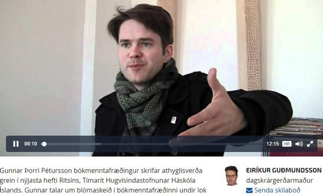 Skjáskot Af vef RÚV.