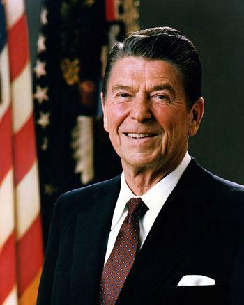 Opinber mynd af Ronald Regan frá 1981. Sjá hér.